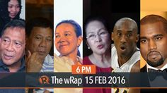 PH election surveys, Pacquiao's retirement, Kobe Bryant | 6PM wRap