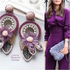 🌷Orecchini in tecnica Soutache🌷 💫disponibili💫 Soutache Jewelry, Silk Ribbon Embroidery, Jewelry Design, Fashion Jewelry, Beads, Earrings, Pink, Handmade, Craft