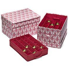 Christmas Ornament Storage Boxes  Ornament storage box Ornament