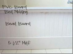 Bead board bath