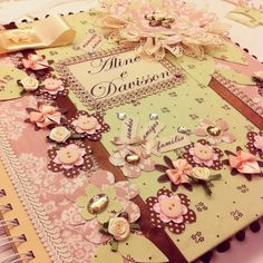 Álbum de noivado! Peça única by Chria!  www.chria.com.br  Encomendas: admin@chria.com.br