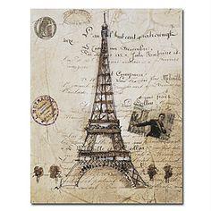La Tour Eiffel print by Liz Jardine - Framed Art, Canvas Art & Art Prints Online > Magnolia Box Vintage Paris, Paris Kunst, Paris Art, Paris Torre Eiffel, Paris Eiffel Tower, Decoupage Vintage, Vintage Diy, Vintage Roses, Art Parisien