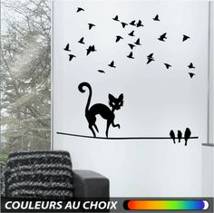 WALL STICKER MURAL CHATS