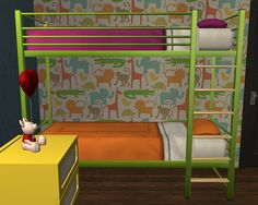 Ohio Bunk Bed in 25 colours: mesh by Chrissy; colour actions by: Aelia, CuriousB, Pooklet and Poppet