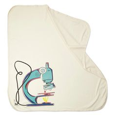 Microscope blanket for future scientists. (Nice break from crowns and bunnies.)