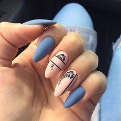 TOP 26 sensational inspiration for the Autumn Nails - You have to see them! TOP 26 sensational inspiration for the Autumn Nails - You have to see them! Almond Acrylic Nails, Autumn Nails, Summer Acrylic Nails, Cute Acrylic Nails, Almond Nail Art, Pastel Nails, Summer Nails, Stylish Nails, Trendy Nails