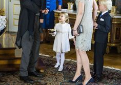 Crown Princess Estelle of at the reception of the christening of Prince Nicolas. Oct. 11, 2015.