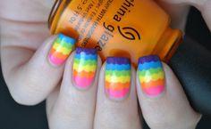 La Universidad de las Uñas en ACRÍLICO y GEL: Diseños de Arco Iris: Orgullo en las uñas