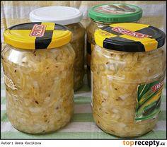 Cuketove zeli Homemade Pickles, Anna, Home Canning, Chutney, Preserves, Kimchi, Sweet Potato, Cucumber, Food To Make
