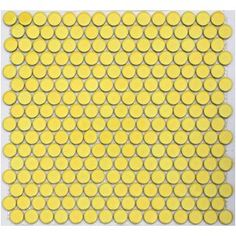 Lift - Yellow Lyric Wafer Glazed Penny Round Tiles