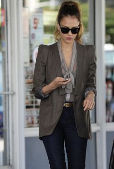 oversized blazer with graphic lines