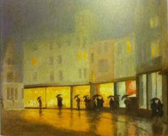 Pastel: オックスフォードの通りにて 牧野義雄