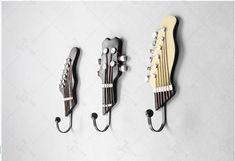 Guitar Head Coat Hook - (Set of 3)