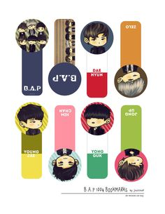 [PRINTABLE] B.A.P 1004 Bookmarks by jinscloud