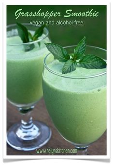 Helyn's Healthy Kitchen: Vegan Grasshopper Smoothie ~ Alcohol-free! This looks interesting but has a LOT of cashews. Any way to reduce?