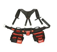 Milwaukee 48-22-8120 Contractor Work Tool Belt with 24 Pockets and Pouches for Organizing Your Tools with Suspension Rig for Construction Workers, Electricians & Carpenters