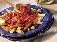 Slow Cooker Meaty Italian Spaghetti Sauce Recipe from Betty Crocker