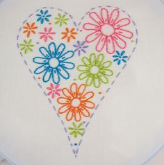 Daisy Embroidery Pattern Packet