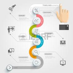 Gesch ftstimeline Infografik Vorlage Vektor Illustration kann f r Workflow Layout Banner Diagramm An Lizenzfreie Bilder