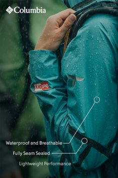 Weather any storm. Our OutDry™ Featherweight Shell has been Tested Tough on the wettest of trails. So no matter how long you're out there, the rain won't get in.