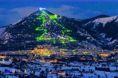 'Albero di Natale di Gubbio': the largest christmas tree of the world! in Gubbio in Umbria, Italy - Tourism Marketing Concepts Christmas In Italy, Beautiful Christmas Trees, Merry Christmas, Modern Christmas, Christmas Lights, Christmas Time, Christmas Decorations, Christmas Displays, Christmas Windows