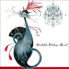 Wonderful Fabulous Me-ow | Marilyn Robertson Catitudes Cat Card