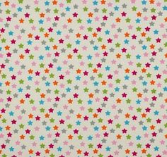 """Tela """"estrellas grandes multicolores"""""""