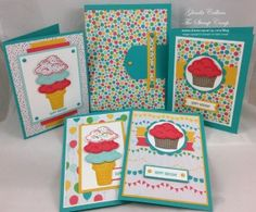 "2015  Stampin' Up! ""Sprinkles of Life"" stamp set has a coordinating punch; ""Tree Builder Punch"".   box with 4 cards"