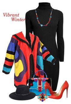 """Vibrant Winter"" by lorrainekeenan ❤ liked on Polyvore featuring Rumour London, Jean Muir, Paula Cademartori, Christian Louboutin, Eric Javits, Southwest Moon and Chanel"