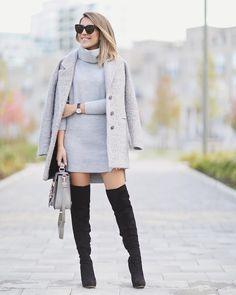 Sweater Dress Weather with @riverisland  Now on stephaniesterjovski.com @liketoknow.it www.liketk.it/1OqP8 #liketkit #ootd #fallstyle #wiw #fallfashion #ImWearingRI by stephsterjovski