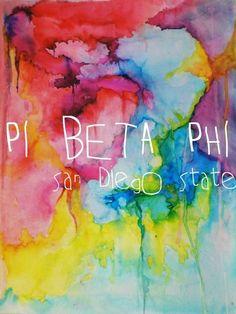 Pi Beta Phi water color art #piphi #pibetaphi