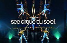 see cirque du soleil. [ ]
