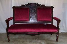 Eastlake Sofa Value | eastlake victorian arts crafts walnut settee loveseat