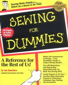 Sewing For Dummies PDF