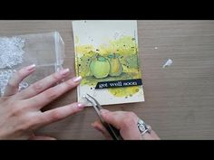 Made by Sannie: Fruity Get Well card with video tutorial