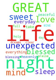 GREAT FATHER OF MINE -  HEAVENLY FATHER I NEED YOUR HELP IN ALL MY LIFE PLEASE CLEAR MY MIND AND LET ME KNOW WHAT TO DO AND SO YOU CAN TAKE OVER IN MY LIFE I ASK IN JESUS NAME AMEN THANK YOU HOLY FATHER FOR EVERYTHING FATHER HELP ME THAT I HAVE A PEACEFUL NIGHT SLEEP WITH SWEET DREAMS ALL NIGHT PRAYING TO HAVE A BLESSED DAY EVERYDAY TO BE FULL OF BLESSING UNEXPECTED IN JESUS NAME THANK YOU LOVE YOU PRAISE YOU FATHER AMEN  Posted at: https://prayerrequest.com/t/Auo #pray #prayer #request…