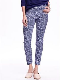 Printed Mid-Rise Pixie Ankle Pants for Women | Old Navy