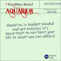 Aquarius Daily Astro!: Ok, you know what your sign is.  But do you know what your Birth Moon is?  Visit iFate.com today and find out!