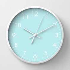 Mint Green Wall Clock by beautifulhomes Green Wall Clocks, Wall Clock Frame, Unique Wall Clocks, Green Home Decor, Retro Home Decor, Mint Decor, Green Decoration, Winter Decorations, Mint Green Aesthetic