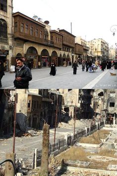 Syria Before And After, Before And After Pictures, Syria Crisis, Land Before Time, Aleppo, Islamic Architecture, Old City, Historical Sites, Middle East