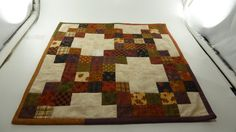 Halloween Puzzle Table Mat 15 square.  Finished by Quiltbuilders
