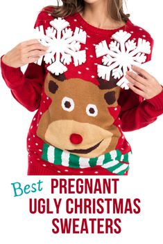 Pregnant Ugly Christmas Sweater – Only The Best Ones! My collection of hand picked ones. Best Ugly Christmas Sweater, Cute Christmas Outfits, Gifts For Pregnant Wife, Cotton Nightwear, Maternity Sweater, Better One, Displaying Collections, My Collection, Ugly Sweater