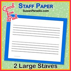 Large Grand Staff composing with young children - Susan Paradis Piano Teaching ResourcesSusan Paradis Piano Teaching Resources