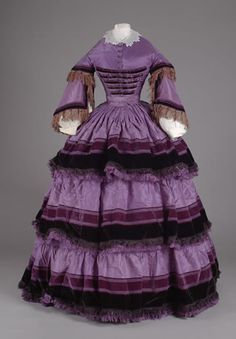 Ballgown, late 1850's United States or France, Litchfield Historical Society