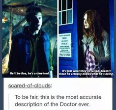 accurate description of doctor who