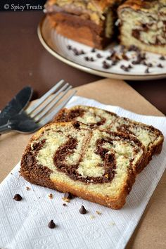 Spicy Treats: Eggless Marble Cake / Eggless Marble Loaf Cake / Chocolate Vanilla Loaf Cake~ For 5 Lakh Hits!!!