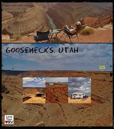 Sweet free camping spot at Goosenecks State Park in south east Utah. No Hook-ups but what a view! #RV #RVing #LoveYourRV