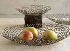 #Recycled metal honeycomb bowl