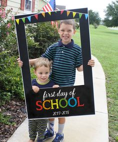 First Day Of School Photo Booth Back To School Frame Digital File