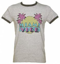 Men's Miami Vice Logo Ringer T-Shirt
